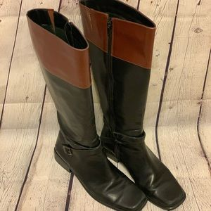 Two Toned Coup D'etat High Boots
